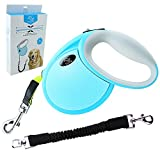 TTLIFE Retractable Dog Leash Upgraded Reinforced Automatic 14. 8ft Bite-Resistant Ribbon Leash for Small & Medium Dogs with Elastic Rope