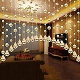 AMOFINY Home Decor 1 Luxury Glass Beads Door String Tassel Curtain Wedding Divider Panel Room Decoration