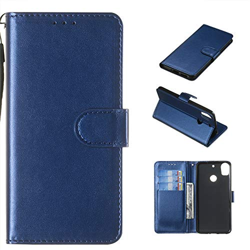 Compatible with HTC Desire 10 Pro Case, Slim Wallet Case Heavy Duty Shockproof Protective Cover with Card Slots Magnetic Flip Case for HTC Desire 10 Pro(Dark Blue)