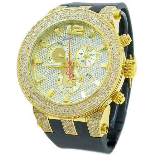 Joe Rodeo del diamante de los hombres - el reloj de oro de BROADWAY 5 ctw: Amazon.es: Relojes