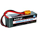 HRB 6S 6000mAh 22.2V Lipo Battery 50C-100C XT90 Plug for RC DJI Airplane Quadcopter Helicopter Align 7.2 700L Yak 54 T-REX