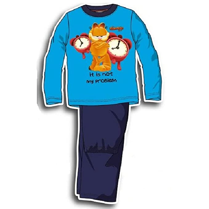 Garfield pijama largo multicolor 3 años