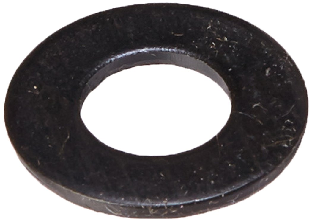 Steel Flat Washer, Black Oxide Finish, ASME B18.22.1, 3/8'' Screw Size, 13/32'' ID, 13/16'' OD, 0.065'' Thick (Pack of 100)