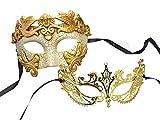 Couple Mask Plastic Roman Princess Charming Metal Venetian Masquerade Mask