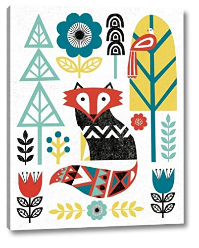 Folk Lodge Fox V2 Teal by Michael Mullan - 30
