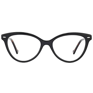 427aa49790fe Image Unavailable. Image not available for. Color  Slocyclub Women Large  Cat Eye Oval Non Prescription Eyeglasses Frame Clear Lens