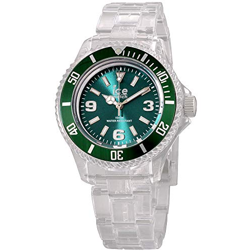 Ice-Pure Green Dial Plastic Strap Unisex Watch PU.FT.S.P.12 (Watch Ice)