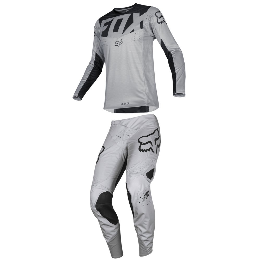 Fox Racing 2019 360 KILA Jersey and Pants Combo Offroad Gear Set Adult Mens Gray Large Jersey/Pants 34W
