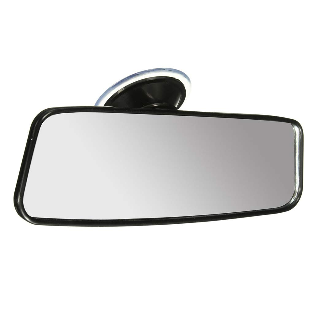 Ruiboury Universal 200mm Car Truck Wide Flat Interior Rear View Mirror Vehicle Suction Stick Rearview Mirror