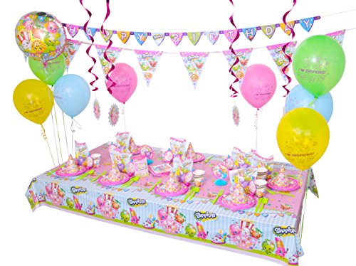 Shopkins Ultimate Birthday Party Supplies Decoration Bundle 8 Guest - 168 Pieces