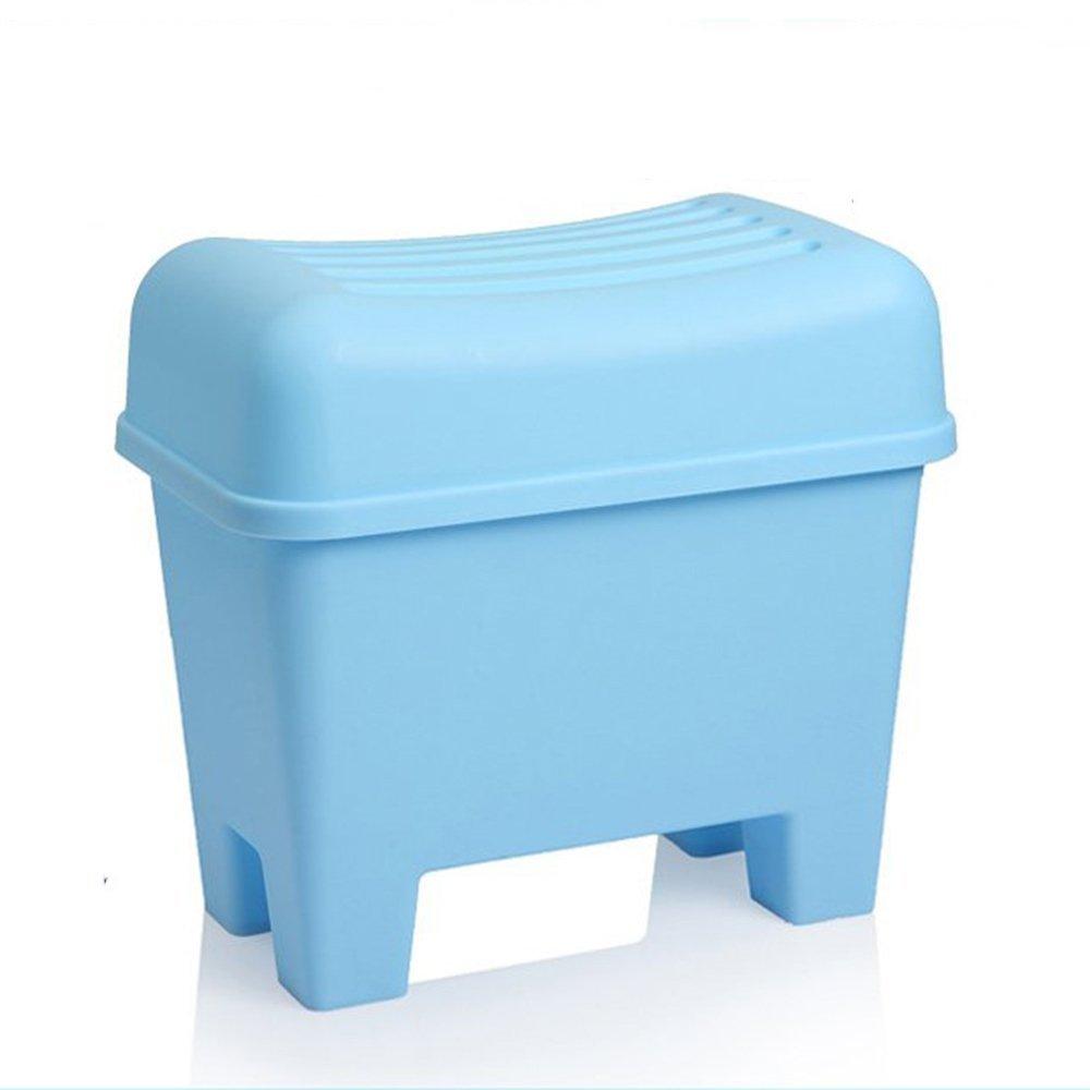 aquí tiene la última MOMO Taburete de Almacenamiento de Juguete Juguete Juguete Almacenamiento Creativo Taburete de Almacenamiento Plástico para Taburete de Calzado Baño Impermeable Taburete Antideslizante (2 Colores Opcionales) (55  3  toma