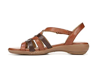 Naturalizer Womens Charm Leather Open Toe Casual Strappy, Brown, Size 7.0