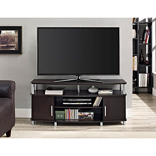 Premium Tv Stand for Flat Screens Wood Carson Console Furniture and Entertainment for 50 Inch (Espresso) price