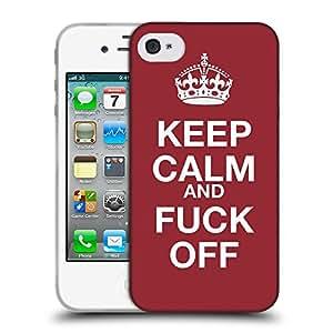 Super Galaxy Coque de Protection TPU Silicone Case pour // V00001610 mantenga la calma y continúe // Apple iPhone 4 4S 4G