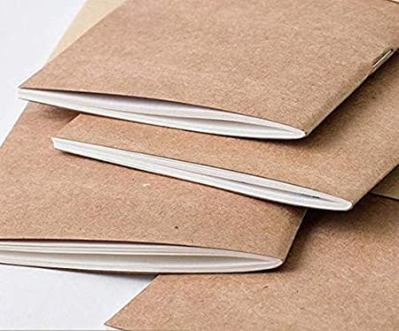 5 x 3.65 Replacement Thick Spare Blank Paper Insert Small TN Travel Diary Plain Pocket Travellers Notebook Journal Paper Refills 3 Pack Cream Unlined Inserts for Small Refillable Leather Journals