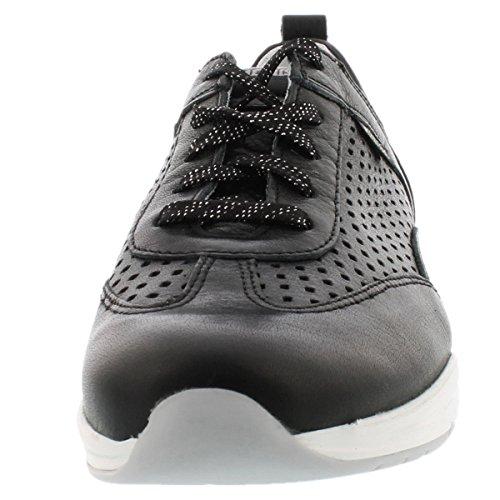 Mephisto YOANA SWEET 5800 BLACK - zapatilla deportiva de cuero mujer negro