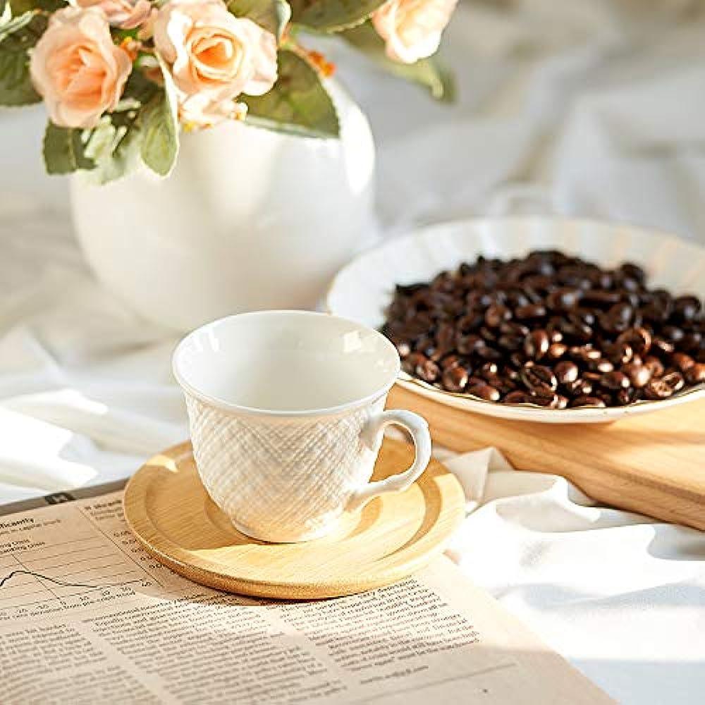 White Cup & Saucer Sets Espresso Porcelain China Tea Cups ...