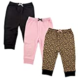 Luvable Friends 3 Pack Tapered Ankle Pants, Leopard, 18-24 Months