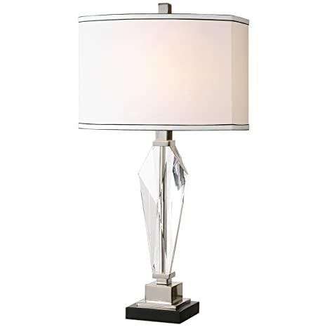 Amazon com uttermost 26601 1 altavilla crystal table lamp home kitchen