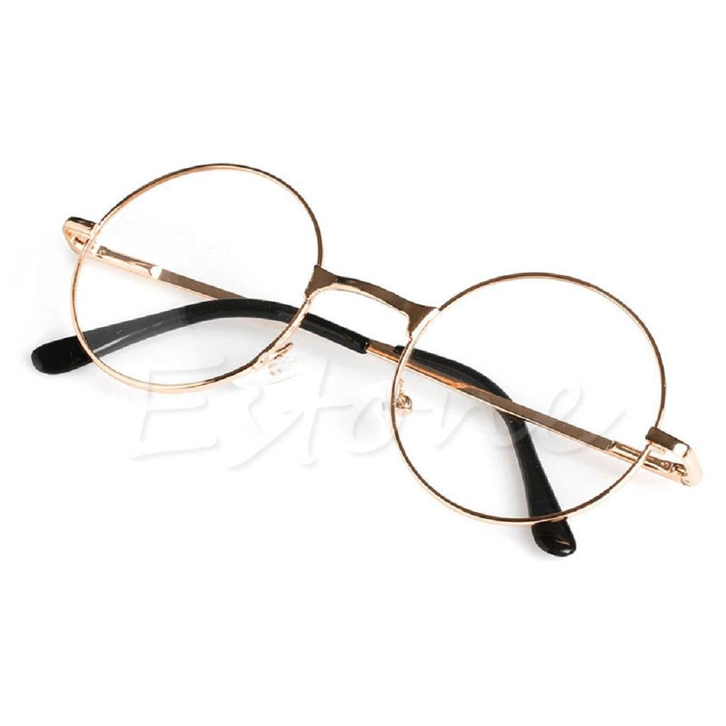 Yumian Unisex Retro Round Presbyopic Reading Glasses Metal Frame Personality Eyeglass