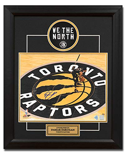 DeMar DeRozan Toronto Raptors Autographed Autograph Center Court 19x23  Frame   50 - Certificate of Authenticity Included at Amazon s Sports  Collectibles ... d3a8a2f11