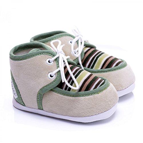 Zapatos de gateo de invierno para bebés verde perla