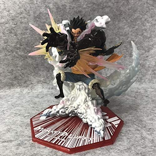 One Piece-figuur, superfelle strijd, Luffy-leeuw uit de vierde versnelling, raketwerper, Luffy, figuur in doos