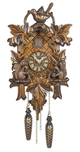 (Trenkle Quartz Cuckoo Clock 5 Leaves, Bird, Squirrel TU 363 Q)
