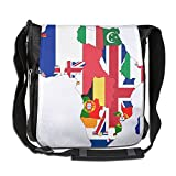 Flag Map Of Colonial Africa 1939 Convenient Unisex Shoulder Bag