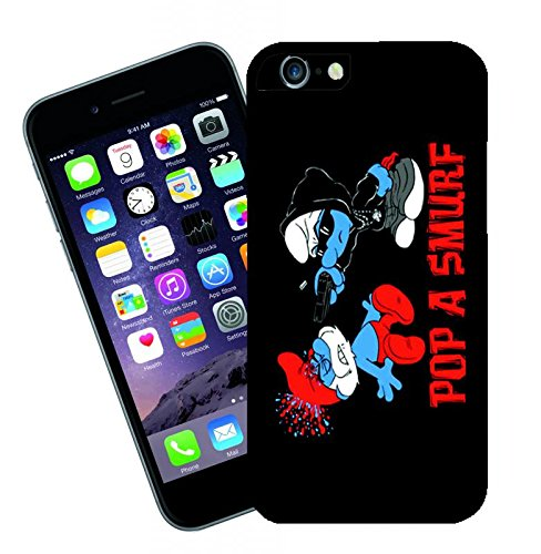 Pop a Smurf 1 iPhone case - This cover will fit Apple model iPhone 6 - By Eclipse Gift Ideas (4 Smurf Case Iphone)