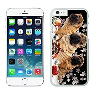 Individualization Christmas Snowflake Dogs White Phone Case For Iphone 6 4.7 Inch