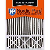 20x25x5 Honeywell Replacement MERV 15 Plus Carbon AC Furnace Air Filters Qty 4