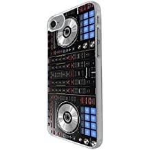 "001061 - Cool Fun Dj Mixer Turntable Vintage Retro Music Dance Clubber RnB Hip Hop Rave Club Design For iphone 7 Plus 5.5"" Fashion Trend CASE Back COVER Plastic&Thin Metal - Clear"