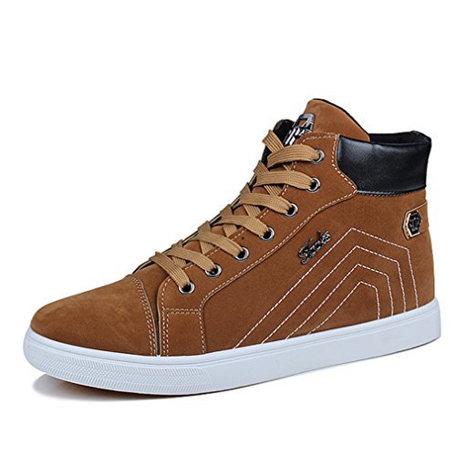 de Sport Marché voyagé Slip Loisir Chaussure Fashion Skate Hauteur Mode LFEU Sneakers Board Jaune Homme On Basket Simple Antidérapant A16A80