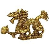 五本爪 龍 神龍 置物 銅製 4寸 単龍 金運 開運 幸福 運気アップ 風水アイテム ドラゴン