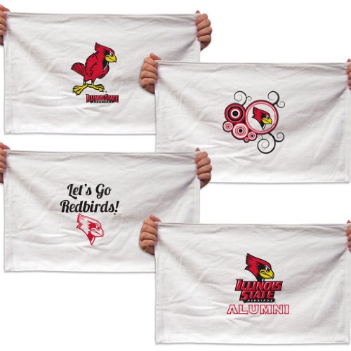(VictoryStore Towels - Illinois State University Rally Towel, Set of 4 Designs)