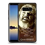 Official HBO Game Of Thrones Memorial Type Quote Hodor Skinny Fit Hybrid Clear Case for Samsung Galaxy Note8 / Note 8