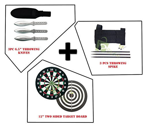 Practice Combo Set 3pc Throwing knives & Spike Full double Size Target board