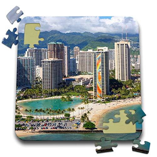 3dRose Danita Delimont - Hawaii - Aerial of Waikiki, Honolulu, Oahu, Hawaii. - 10x10 Inch Puzzle (pzl_314802_2)