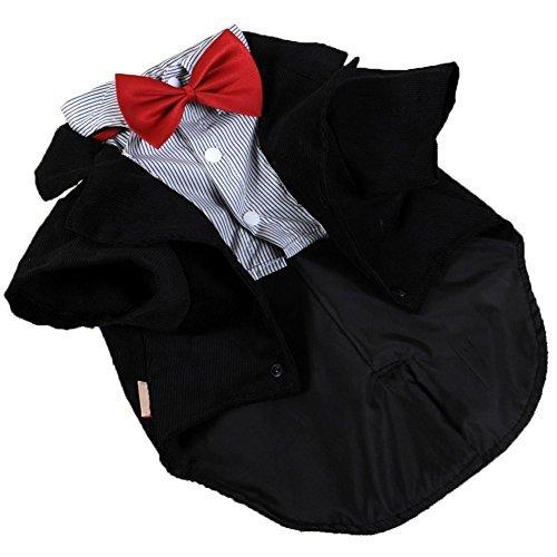 Umora pet Tuxedo Men's Suit Bow tie Dog cat Clothes pet Costume M