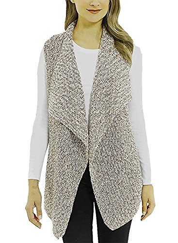 Jones New York Ladies' Sweater Vest (Camel Combo, Small)
