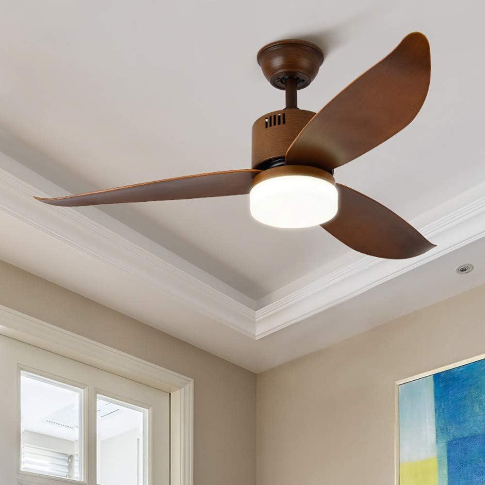 Maybesky-leg Lámpara de techo de 36 W LED cepillado, 3 colores de atenuación empotrado, instalación interior, ventilador de techo con kit de luz y mando a distancia (3 cuchillas) lámpara de techo