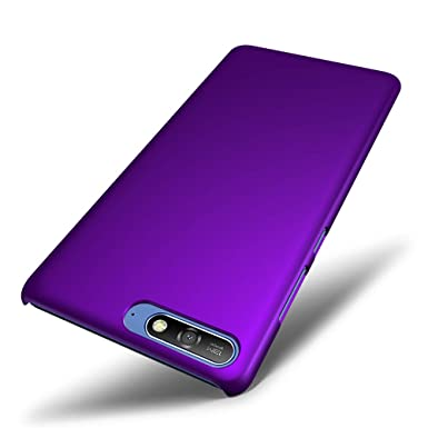 finest selection 8da9d 1fadf SLEO Case for Huawei Y6 2018 Case - Rubberized Hard PC Back Case Cover for  Huawei Y6 2018 - Purple