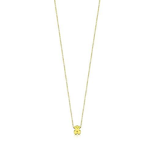9bd697b7be42 TOUS Collar con colgante Mujer oro amarillo de 18kt. Largo 45 cm ...