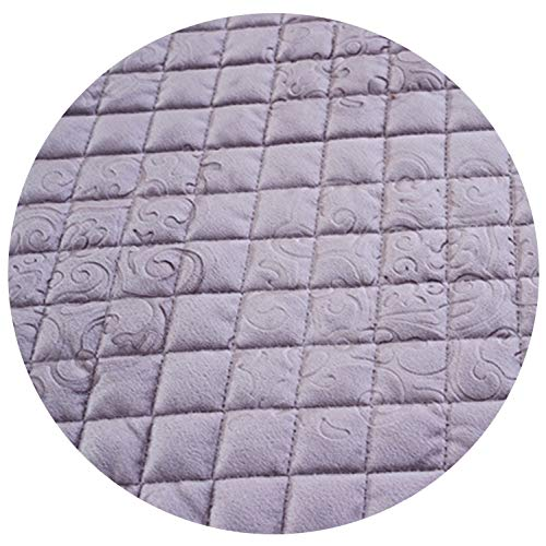 (Plush Leather Sofa Cover Factory Customized 18Cm Lace Edge Fabric Velvet Plaid Quilted Mat Slipcover Couch Slips,Purple,8515 by 180Cm)