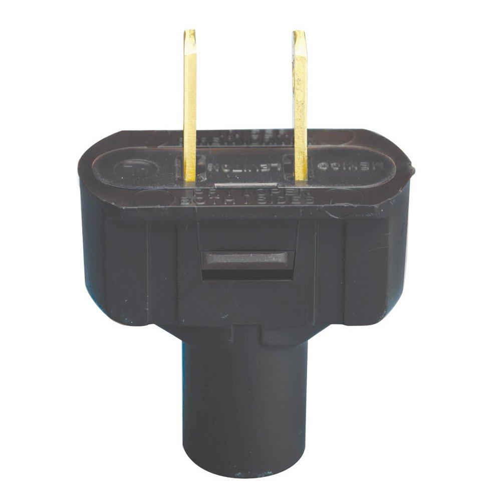 Leviton 48643-E 15 Amp, 125V Non Grounding Plug, 25-Pack, Brown