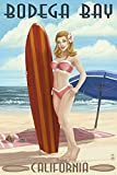 Bodega Bay, California - Surfer Pinup