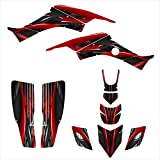 honda 400 ex stickers - Honda TRX 400 EX Graphics Decal Kit 1999-2007 By Allmotorgraphics No3333 Red
