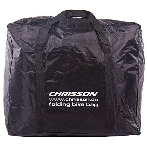 CHRISSON FALTRAD KLAPPRAD TRANSPORTTASCHE TRAGETASCHE schwarz für Falträder von 14 bis 20 Zoll