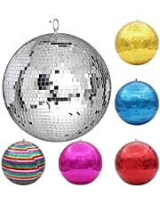 Stage Light 30cm Mirror Disco Ball Stage Light Rotating Glass Ball Big Party Decorations ktv bar dj Lighting Reflection Colorful Mirror Ball